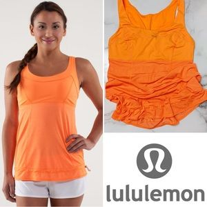 LULULEMON Run: TaTa Topper in Orange Pizzaz Size 6